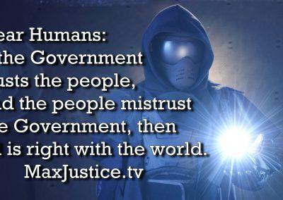 Mistrust government