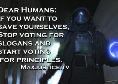 Voting for slogans